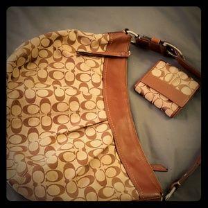 Coach bag and wallet set